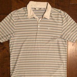 Travis Mathew Striped Polo - LARGE
